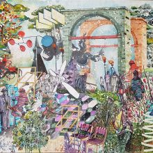 "Behrang Samadzadegan, ""Seizure"", from ""Heading Utopia"" series, watercolor on paper, 104.7 x 140.7 cm, 2018"