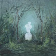 "Samaneh Salehi Abri, untitled, from ""Garden/Recreation/Observation"" series, oil on canvas, 18 x 24 cm, 2020"