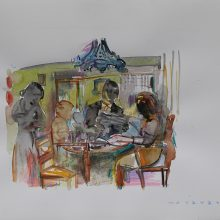 Seyed Mohamad Mosavat, untitled, mixed media, 35 x 45 cm, 2018