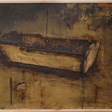 "Mojtaba Amini, ""Ašwa"", mixed media (handmade paper, cardboard, organic glue), 84 x 141.5 cm, 2017"