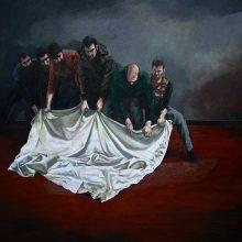 Mahmood Haqverdilo, untitled, oil on canvas, 100 x 150 cm, 2019