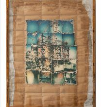 """Sasan Abri, untitled, from """"Exposed"""" series, mixed media (polaroid photography, a collage of 20 images, all transferred to glass), unique edition, 75.5 x 55.5 cm, 2015-2018"""