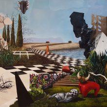 "Sanam Sayehafkan, ""The Invention of Solitude"", oil on canvas, 141 x 188 cm, 2018"
