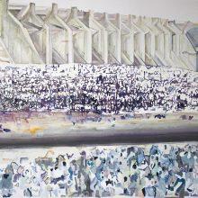 Yasaman Nozari, untitled, oil on canvas, 62 x 88 cm, 2019