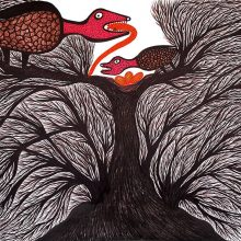 Mahmoodkhan, untitled, marker on paper, 70 x 100 cm, unique edition, 2020