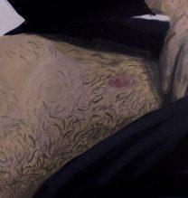 "Negar Karimkhani, ""Reveal"", from ""Hide & Seek"" series, gouache on paper, 6.5 x 9.5 cm, 2018"