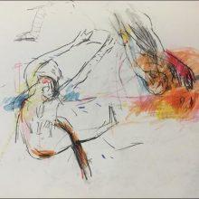 Maede Salar, untitled, mixed media, 39 x 48 cm, 2018