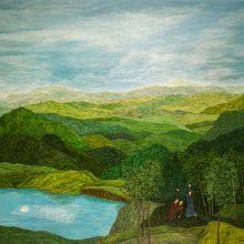 """Amirhossein Bayani, """"Underground"""", oil on canvas, 140 x 180 cm, 2020"""