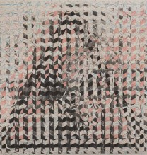 144×231-pencil-and-gold-paper-on-cardboard-with-collage——2013