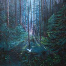 "Atena Fereydouni, ""6 Days Ago"", from ""Mehrabad"" series, oil on canvas, 120 x 150 cm, 2020"