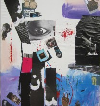 2.	Untitled | 2013 |Mixed Media on Canvas |195X145 CM