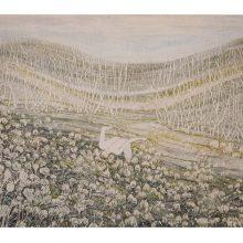 "Iman Ebrahimpour, ""Smelling"", mixed media on paper, 40 x 68 cm, 2019"