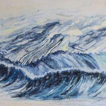 Yasaman Nozari, untitled, oil on canvas 50 x 90 cm, 2019