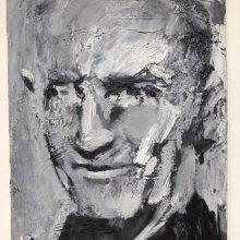 "Amir-Hossein Zanjani, untitled, from ""Portrait"" series, oil on canvas, 23.5 x 17 cm, 2019"
