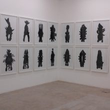 "Sara Abbasian, ""Blacks"" series, installation view, 2015"