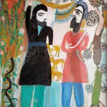 Mokarameh Ghanbari, untitled, acrylic on wood, 105 x 90 cm, unique edition