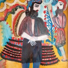 Mokarameh Ghanbari, untitled, acrylic on wood, 106 x 90 cm, unique edition