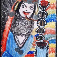 Mokarameh Ghanbari, untitled, acrylic on paper, 49 x 34 cm, unique edition