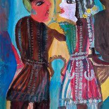 Mokarameh Ghanbari, untitled, acrylic on paper, 67 x 47  cm, unique edition