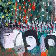 Mokarameh Ghanbari, untitled, acrylic on paper, 32 x 22 cm, unique edition