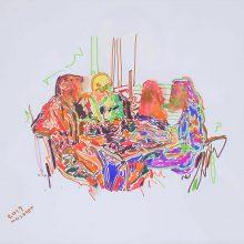 Seyed Mohamad Mosavat, untitled, marker pen on paper, 35 x 45 cm, 2019