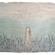 Iman Ebrahimpour, untitled, mixed media on canvas, 49 x 79 cm, 2018