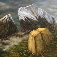 Marjan Hoshiar, untitled, oil on canvas, 70 x 100 cm, 2018