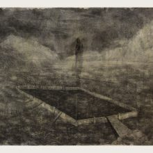 Milad Jahangiri, untitled, pencil on cardboard, 41.5 x 69.5 cm, 2018