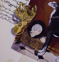 "Negar Karimkhani, ""Eos"", from ""Hide & Seek"" series, gouache on paper, 11.5 x 9 cm, 2018"