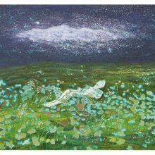 Iman Ebrahimpour, untitled, mixed media on canvas, 41 x 69 cm, 2019