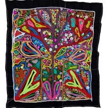 Tajesar Jafari, untitled, sewing on fabric, 74 x 50 cm, unique edition, 2019