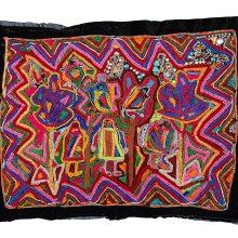 Tajesar Jafari, untitled, sewing on fabric, 57 x 80 cm, unique edition, 2019