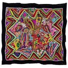Tajesar Jafari, untitled, sewing on fabric, 65 x 60cm, unique edition, 2019