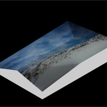 """Mehdi Abdolkarimi, from """"Among Highyways"""" series, pigmented inkjet print on """"Hahnemuhle"""" photo rag paper 305 gsm, fragmented geographic mount, 12 x 8 x 2 cm, edition of 7 + AP, 2015"""