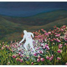 Iman Ebrahimpour, untitled, mixed media on canvas, 40 x 70 cm, 2019