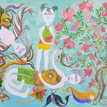Abbas Arvajeh, untitled, ink on cardboard, 70 x 100 cm, 2019