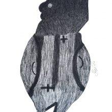 Davood Koochaki, untitled, pencil on cardboard, 100 x 70 cm, 2017