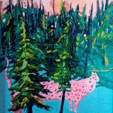 "Mahmoudreza Zandpour, From ""Called Again"" Series, Acrylic on Canvas, 40 x 30 cm, 2016"