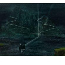 Milad Jahangiri, Untitled, Mixed Media on Cardboard, 32 x 47 cm, 2016