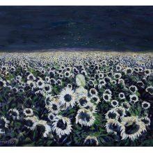 Iman Ebrahimpour, untitled, mixed media on canvas, 40 x 50 cm, 2019