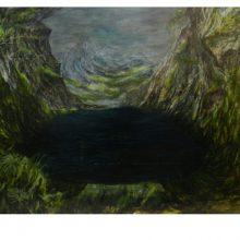 Milad Jahangiri, Untitled, Oil on Board, 90 x 70 cm, 2016