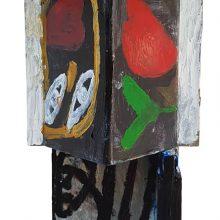 Jamshid Aminfar, untitled, mixed media on wood, 49 x 21 x 12 cm, 2019