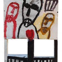 Jamshid Aminfar, untitled, mixed media on wood, 52 x 36 cm, 2019