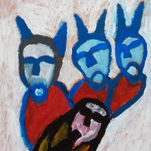Jamshid Aminfar, untitled, mixed media on wood, 34 x 25 x 2 cm, 2019