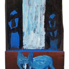 Jamshid Aminfar, untitled, mixed media on wood, 40 x 27 x 3.5 cm, 2019