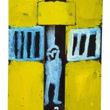 Jamshid Aminfar, untitled, mixed media on wood, 40 x 31 x 2 cm, 2019