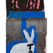 Jamshid Aminfar, untitled, mixed media on wood, 56 x 24 x 4 cm, 2019