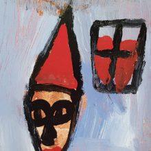 Jamshid Aminfar, untitled, mixed media on wood, 23 x 18.5 x 2 cm, 2019