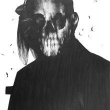 "Sara Abbasian, untitled, from ""Epidemy"" series, pencil on cardboard, 42 x 30 cm, 2017"
