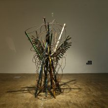 "Amir Mobed, ""Created"", (bronze, iron), 165 x 95 cm, unique edition, 2019"